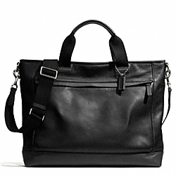 COACH F70926 Camden Leather Supply Bag GUNMETAL/BLACK/BLACK