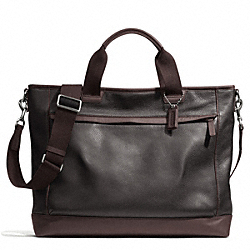 COACH F70926 Camden Leather Supply Bag GUNMETAL/MAH/DARK MAHOGANY
