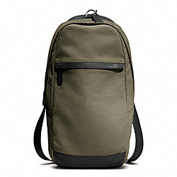 COACH F70930 Camden Canvas Utility Pack GUNMETAL/FATIGUE/BLACK