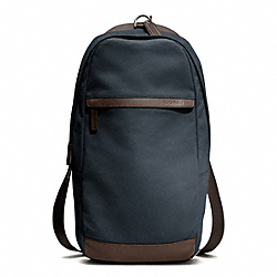 COACH F70930 Camden Canvas Utility Pack GUNMETAL/NAVY