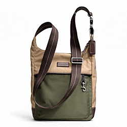 COACH F70942 Varick Nylon Colorblock Tech Crossbody