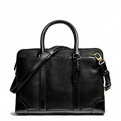 COACH F70954 Crosby Box Grain Leather Commuter BRASS/BLACK