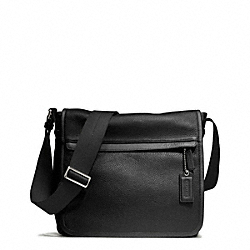 CAMDEN LEATHER MAP BAG - f70973 - GUNMETAL/BLACK/BLACK
