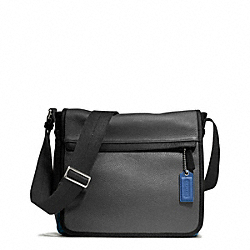 CAMDEN LEATHER MAP BAG - f70973 - GUNMETAL/CHARCOAL/MARINE