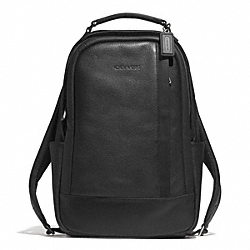 COACH F71060 Camden Leather Backpack GUNMETAL/BLACK/BLACK