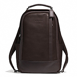 COACH F71060 Camden Leather Backpack GUNMETAL/MAHOGANY/DARK MAHOGANY