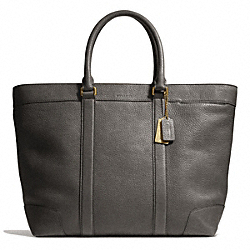COACH F71068 Bleecker Pebbled Leather Weekend Tote BRASS/GRANITE