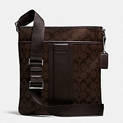 COACH F71131 Heritage Signature Small Zip Top Crossbody MAHOGANY/BROWN