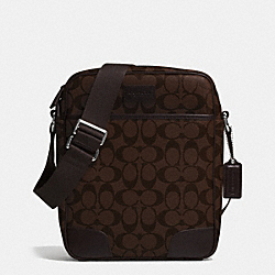 COACH F71167 Coach Heritage Signature Flight Bag MAHOGANY/BROWN