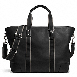 HERITAGE WEB LEATHER WEEKEND TOTE - f71169 - SILVER/BLACK
