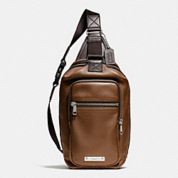 COACH F71185 Thompson Day Pack In Leather SILVER/SADDLE