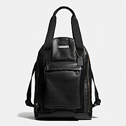 COACH F71235 Thompson Urban Backpack In Leather  ANTIQUE NICKEL/BLACK