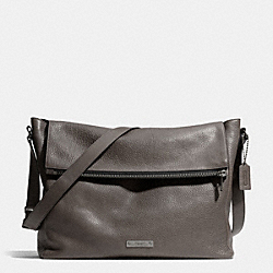 COACH F71236 Thompson Zip Top Messenger In Leather BK/SLATE/BLACK