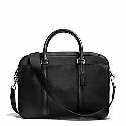 LEXINGTON SAFFIANO LEATHER ZIP TOP BRIEF - f71250 - F71250SVBK