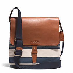 COACH F71271 Heritage Beach Vintage Stripe Map Bag