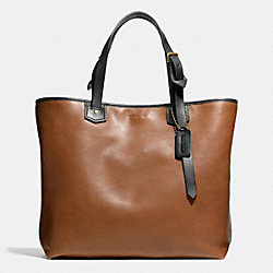 COACH F71329 Bleecker Leather Small Holdall  BRASS/FAWN