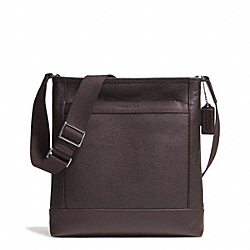 COACH F71341 Camden Leather Tech Crossbody GUNMETAL/MAHOGANY/DARK MAHOGANY