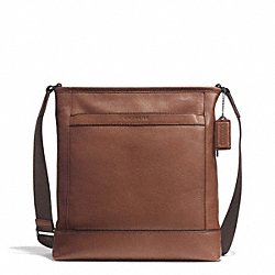 COACH F71341 Camden Leather Tech Crossbody GUNMETAL/CLASSIC TOBACCO