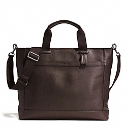 COACH F71347 Camden Leather Supply Bag GUNMETAL/MAHOGANY/DARK MAHOGANY