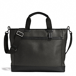 COACH F71347 Camden Leather Supply Bag GUNMETAL/SLATE/BLACK
