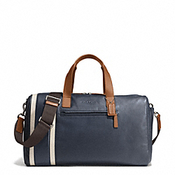 COACH F71352 Heritage Sport Gym Bag SILVER/NAVY/SADDLE