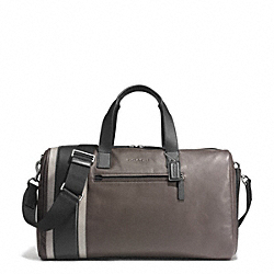 COACH F71352 Heritage Sport Gym Bag SILVER/SLATE/BLACK