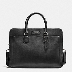 COACH F71469 Commuter In Crossgrain Leather GUNMETAL/BLACK