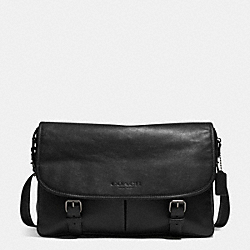 COACH F71470 Sport Messenger In Leather  GUNMETAL/BLACK