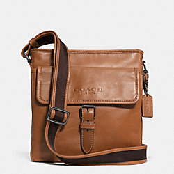 COACH F71487 Sport Field Bag In Leather  GUNMETAL/SADDLE