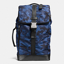 COACH F71532 Varick Duffle Backpack In Nylon  NAVY/BLACK