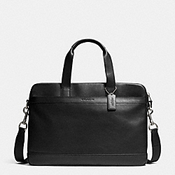 COACH F71561 - HUDSON BAG IN SMOOTH LEATHER  BLACK