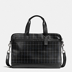 COACH F71561 - HUDSON BAG IN SMOOTH LEATHER  BLACK TATTERSALL