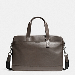 COACH F71561 - HUDSON BAG IN SMOOTH LEATHER  GRAY