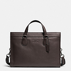 SMITH BRIEF IN PEBBLE LEATHER - f71614 - QBDBR