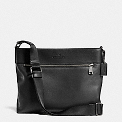 COACH F71624 Sam Crossbody In Pebble Leather ANTIQUE NICKEL/BLACK