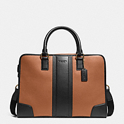 COACH F71639 Director Brief In Bombe Leather SADDLE/BLACK