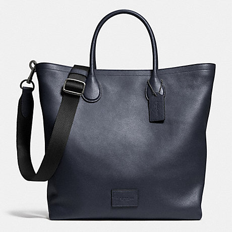 COACH F71647 MERCER TOTE IN PEBBLE LEATHER ANTIQUE-NICKEL/MIDNIGHT