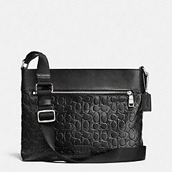 COACH F71651 Sam Crossbody In Signature Sport Calf Leather SILVER/BLACK