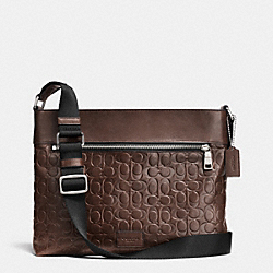 COACH F71651 Sam Crossbody In Signature Sport Calf Leather SILVER/MAHOGANY