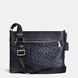 COACH F71651 Sam Crossbody In Signature Sport Calf Leather SILVER/MIDNIGHT