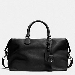 COACH F71666 Explorer Bag In Pebble Leather ANTIQUE NICKEL/BLACK