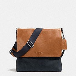 COACH F71691 Map Bag In Twill  MIDNIGHT SADDLE