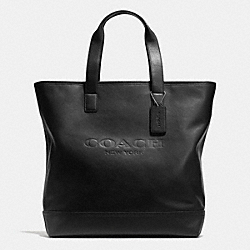 COACH F71699 Mercer Tote In Smooth Leather  BLACK