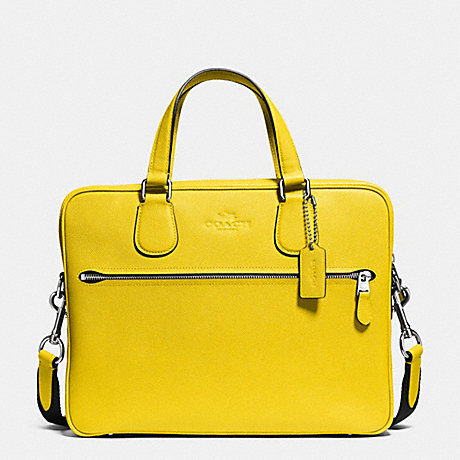 Coach F71710 Hudson 5 Bag In Crossgrain Leather Silver Yellow