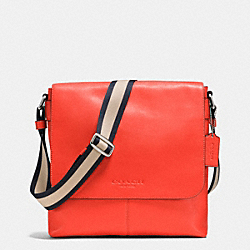 COACH F71721 Sullivan Small Messenger In Smooth Leather ORANGE