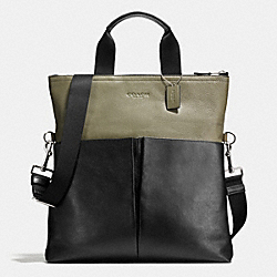 COACH F71722 Foldover Tote In Smooth Leather E64