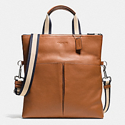 COACH F71722 Foldover Tote In Smooth Leather SADDLE