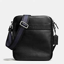 COACH F71723 Flight Bag In Smooth Leather BLACK