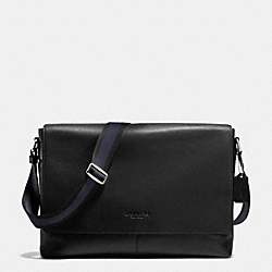 COACH F71726 - SULLIVAN MESSENGER IN SMOOTH LEATHER BLACK