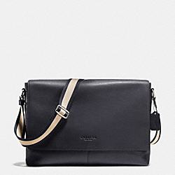 COACH F71726 Sullivan Messenger In Smooth Leather MIDNIGHT